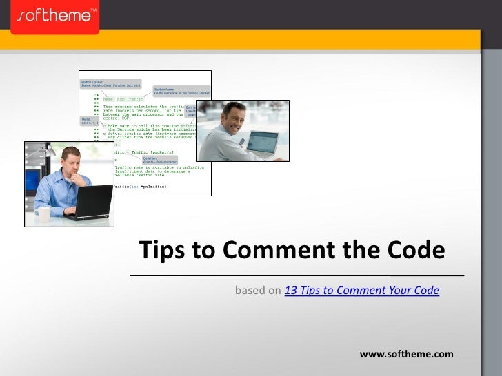 Tips to Comment the Code