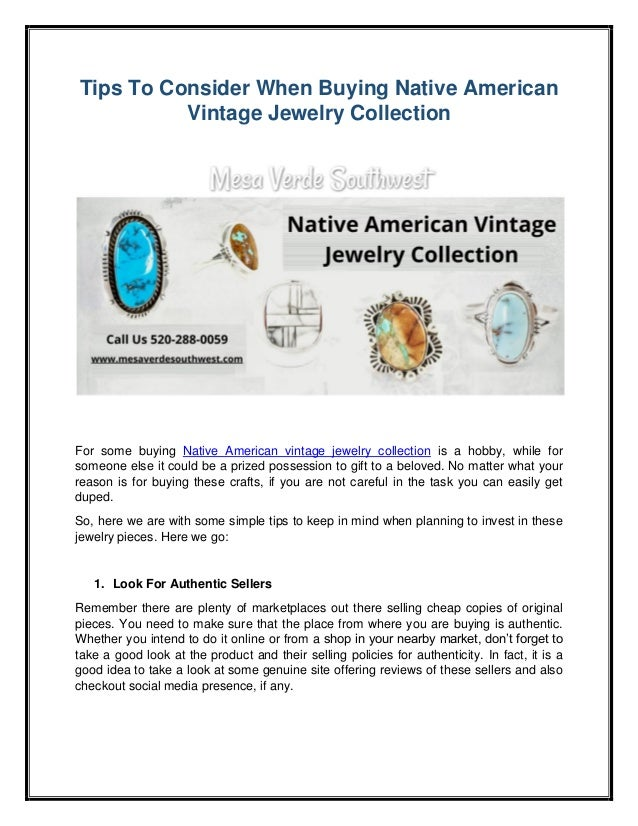 Tips To Consider When Buying Native American Vintage Jewelry Collection For some buying Native American vintage jewelry co...