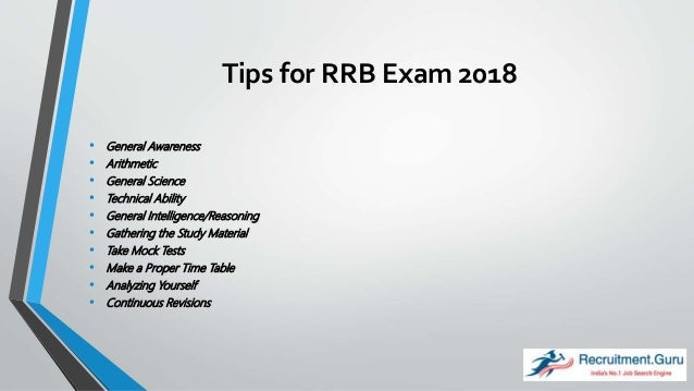 Tips to Crack RRB Exam 2018