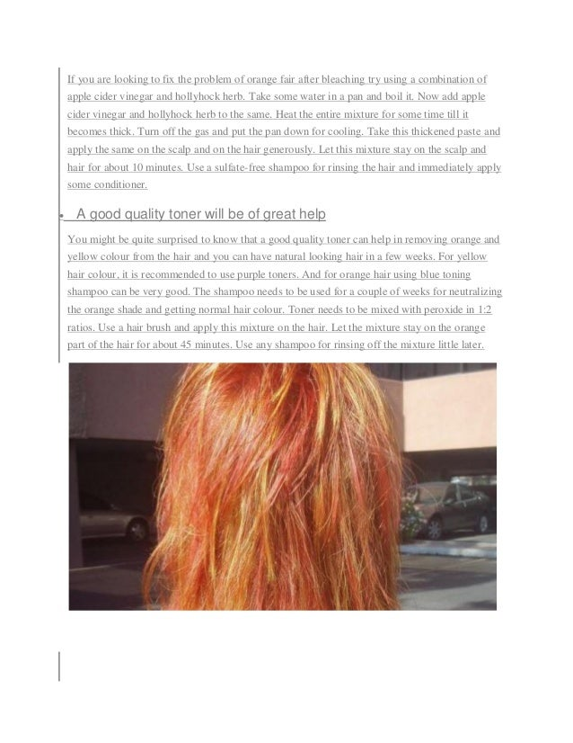 Tips To Deal With And Fix Stubborn Orange Hair After Bleachingpdf1