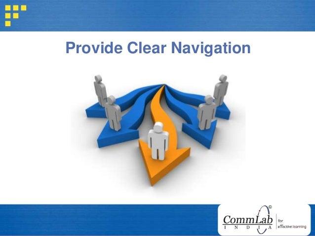 Provide Clear Navigation