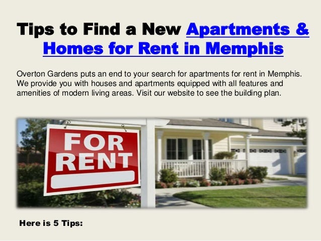 Tips To Find A New Apartments U0026 Homes For Rent In Memphis Overton Gardens  Puts An ...