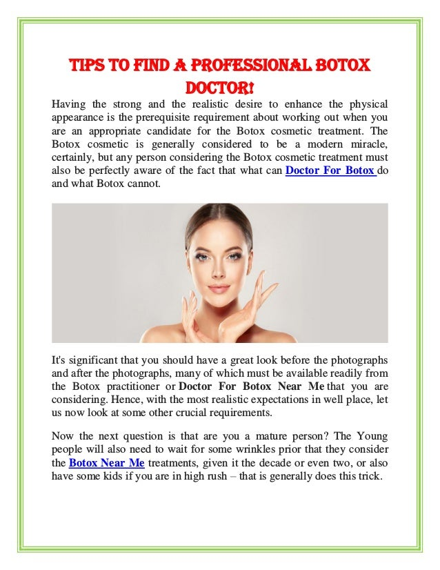 Tips to find a professional botox doctor