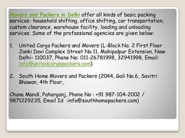Tips to find best movers and packers in delhi
