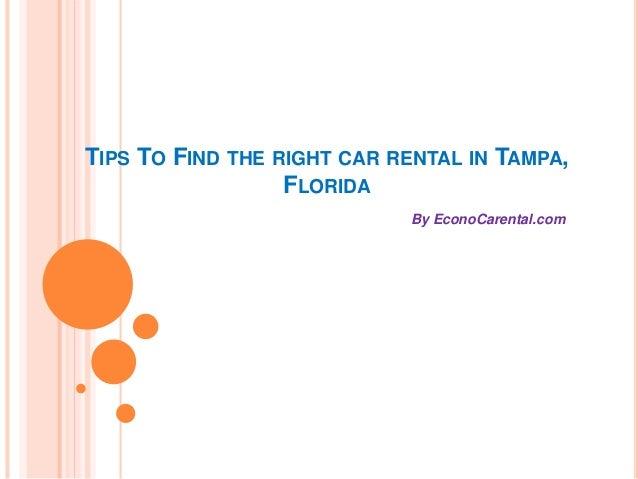 Best Car Rentals At Tampa Airport