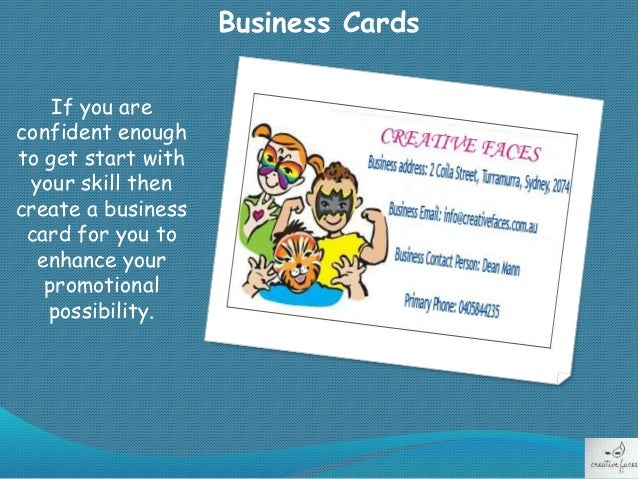 Tips to follow before starting face painting business business cards colourmoves