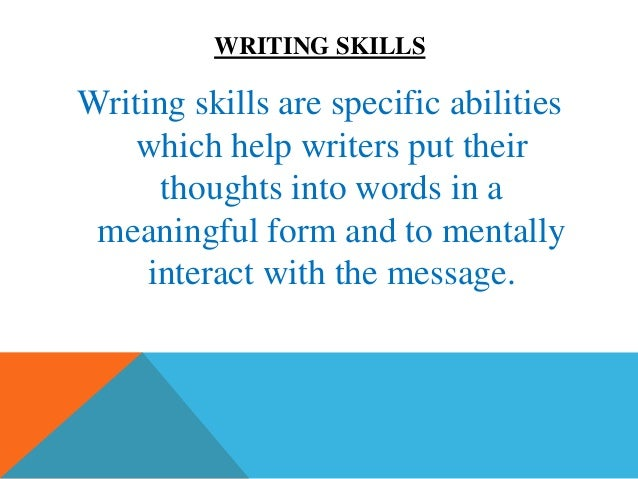 tips to get a good writing skill writing skillswriting