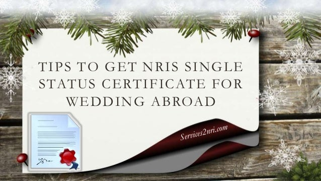 how to get single status certificate