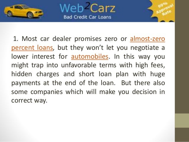 Tips To Get The Lowest Car Loan Interest Rate - 웹