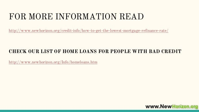 how to get the lowest home loan rate
