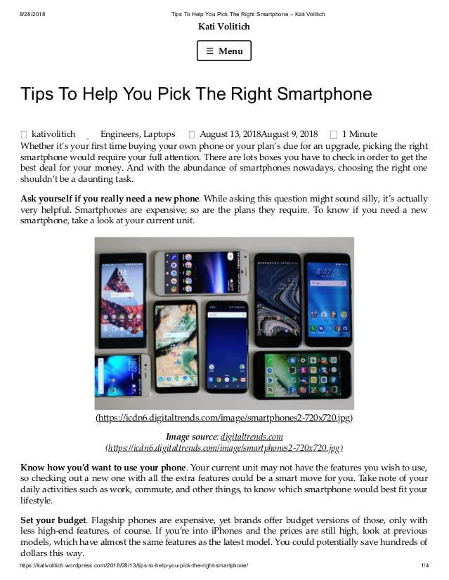 9bfd189071c5f3 8/28/2018 Tips To Help You Pick The Right Smartphone – Kati Volitich ...
