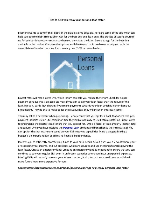 Tips to help you repay your personal loan faster Everyone wants to pay off their debts in the quickest time possible. Here...