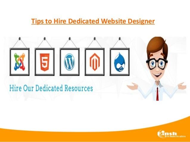 Tips to Hire Dedicated Website Designer