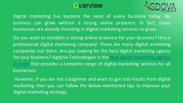 Tips to improve your digital marketing strategy Slide 2