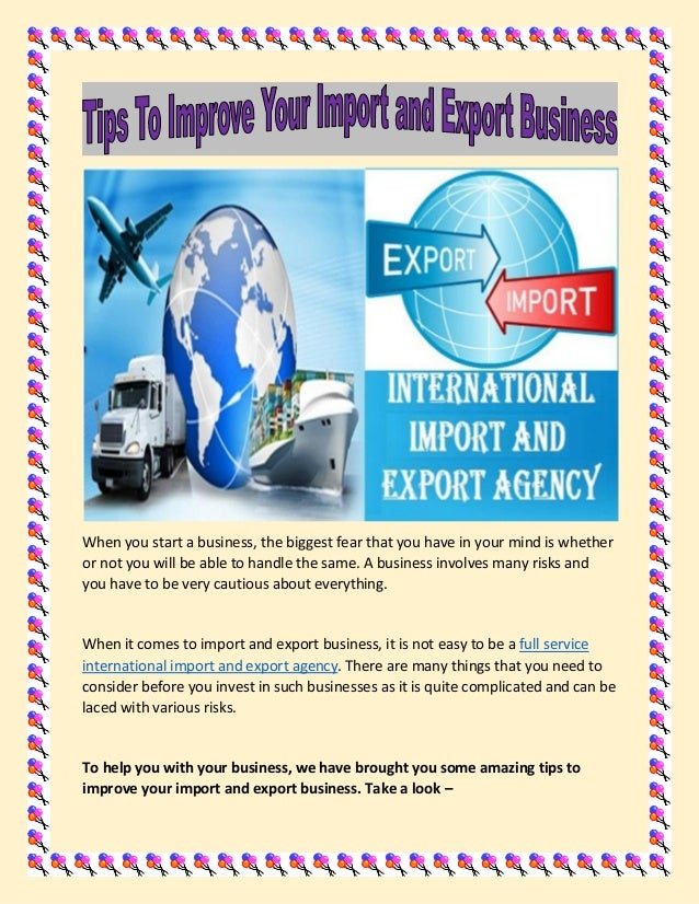 Tips To Improve Your Import And Export Business