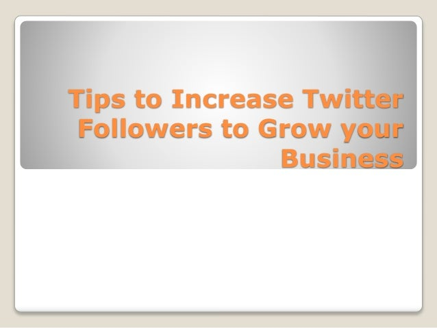 Gain followers on twitter business plan