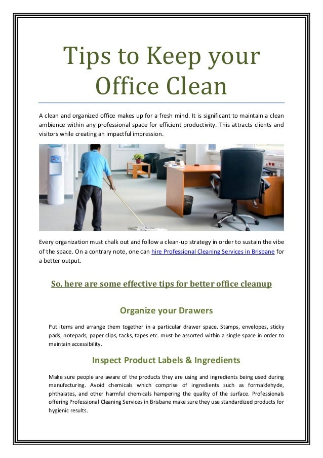 Tips to keep your office clean for Pictures for your office