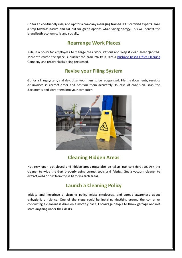 Tips To Keep Your Office Clean