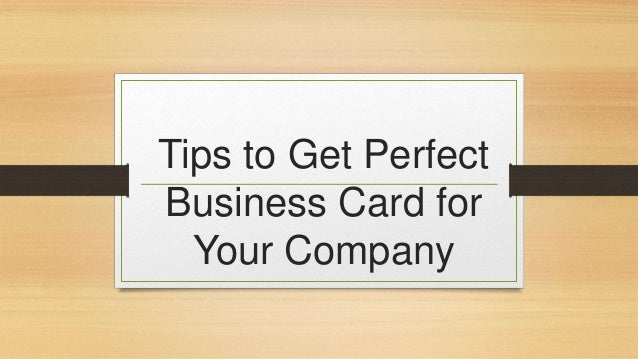How to make perfect business card for your company colourmoves