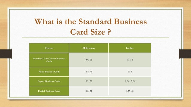 How to make perfect business card for your company 3 what is the standard business card size colourmoves Images