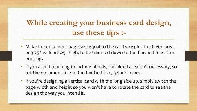 How to make perfect business card for your company business cards 83 x 51 325 x 2 4 reheart Gallery