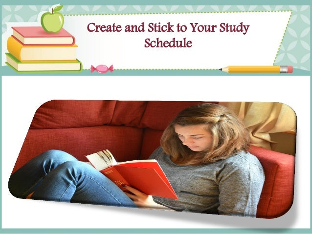 Image result for Make a Study Plan and Stick to It