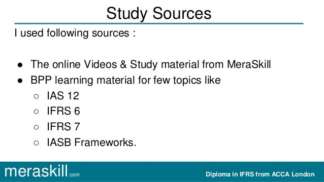 Diploma in IFRS - Free Study Material Now Available ...