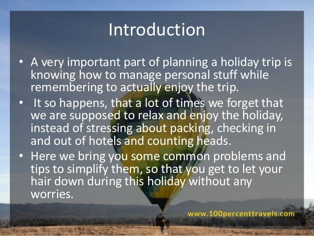 An introduction to the personal experience of the worst holiday