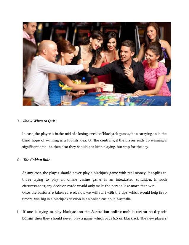 Tips To Play Blackjack Online Australia Free