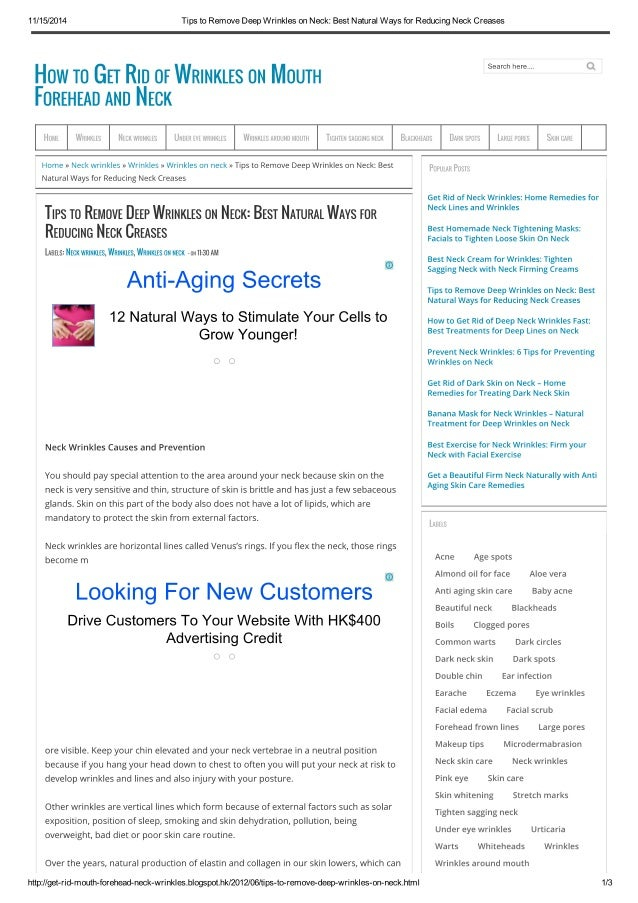 11/15/2014 Tips to Remove Deep Wrinkles on Neck: Best Natural Ways ...
