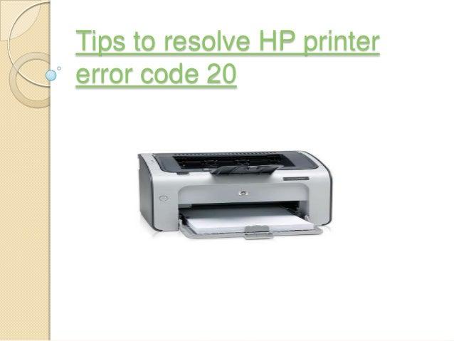 Tips to resolve HP printer error code 20