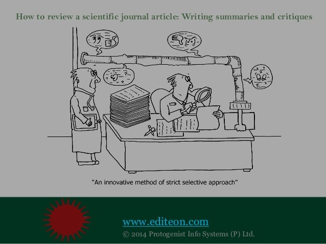 How to write a scientific journal article review