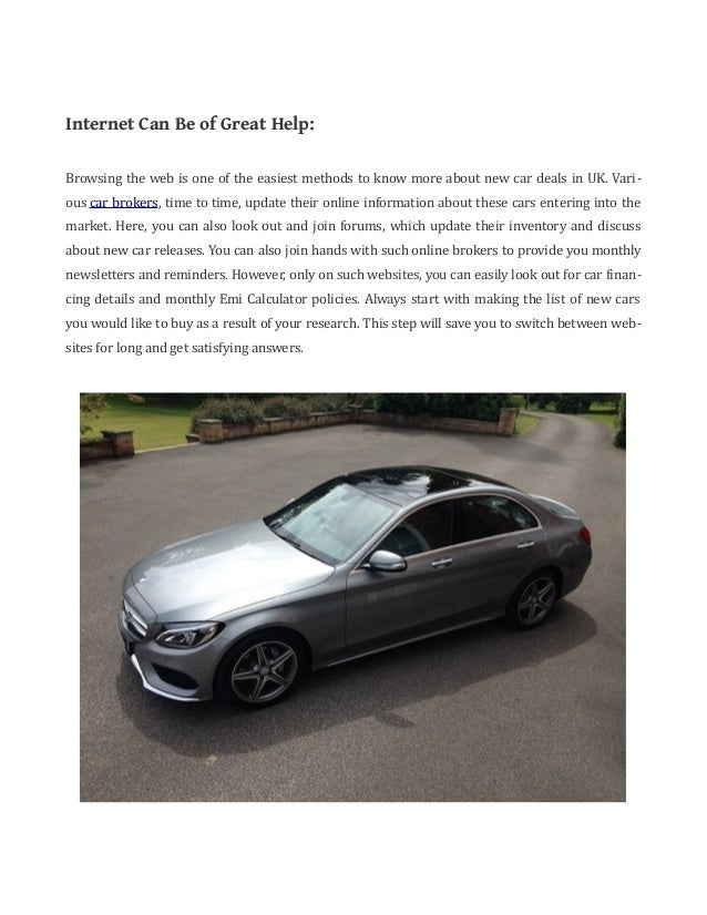 Tips To Search For New Car Deals In Uk New