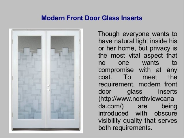 4. Modern Front Door Glass Inserts Though ...