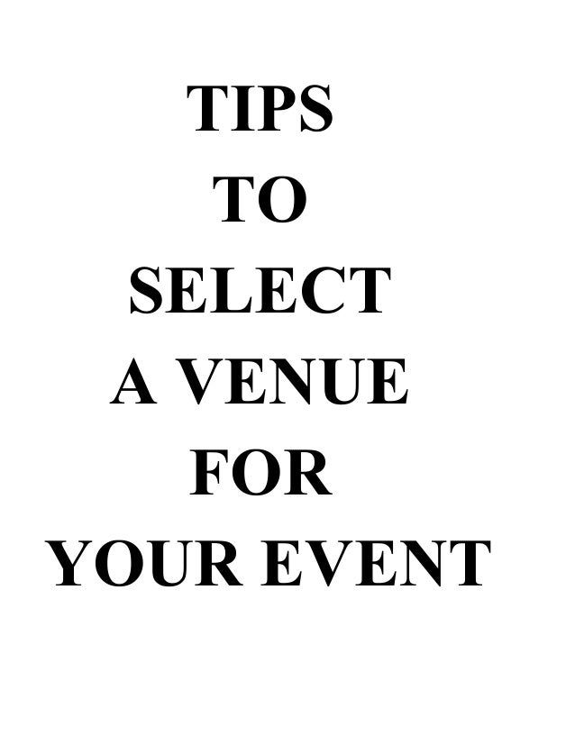 Now how do you go about choosing the perfect venue for your occasion? With an event on mind, we know  there's so much to d...