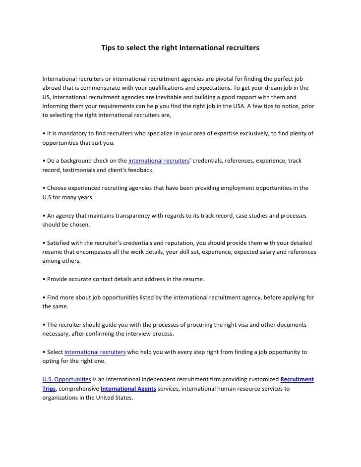 international employment agencies in usa