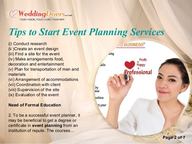 Tips To Start Event Planning Services