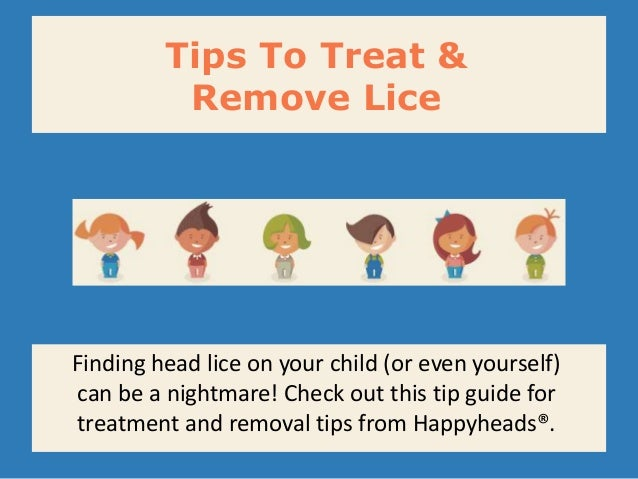 how to remove lice from head