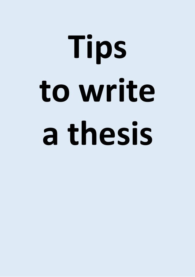 Tips for writing a dissertation proposal