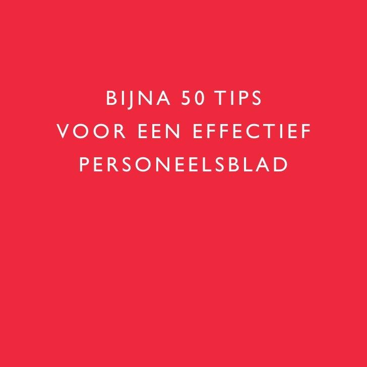 BIJNA 50 TIPS VOOR EEN EFFECTIEF  PERSONEELSBLAD