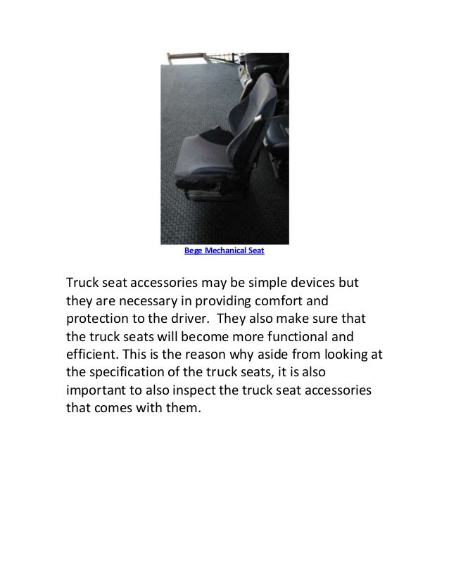 Tips When Looking For Truck Seat Accessories
