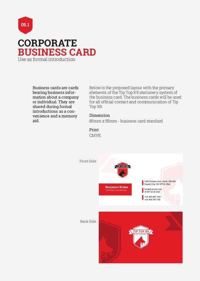 Tiptop K9 Brand Book Design