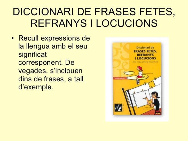 Tipus De Diccionaris