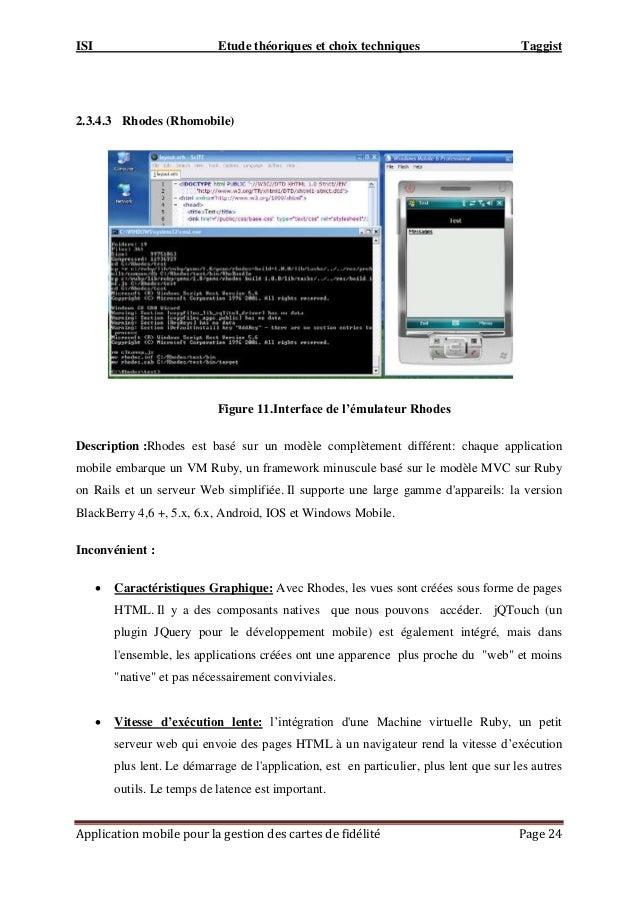 ISI Etude théoriques et choix techniques Taggist Application mobile pour la gestion des cartes de fidélité Page 24 2.3.4.3...