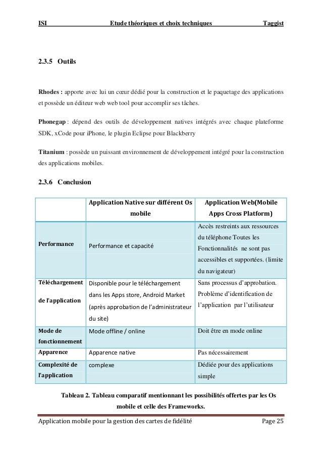 ISI Etude théoriques et choix techniques Taggist Application mobile pour la gestion des cartes de fidélité Page 25 2.3.5 O...