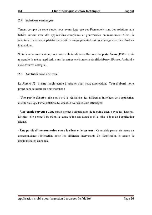 ISI Etude théoriques et choix techniques Taggist Application mobile pour la gestion des cartes de fidélité Page 26 2.4 Sol...