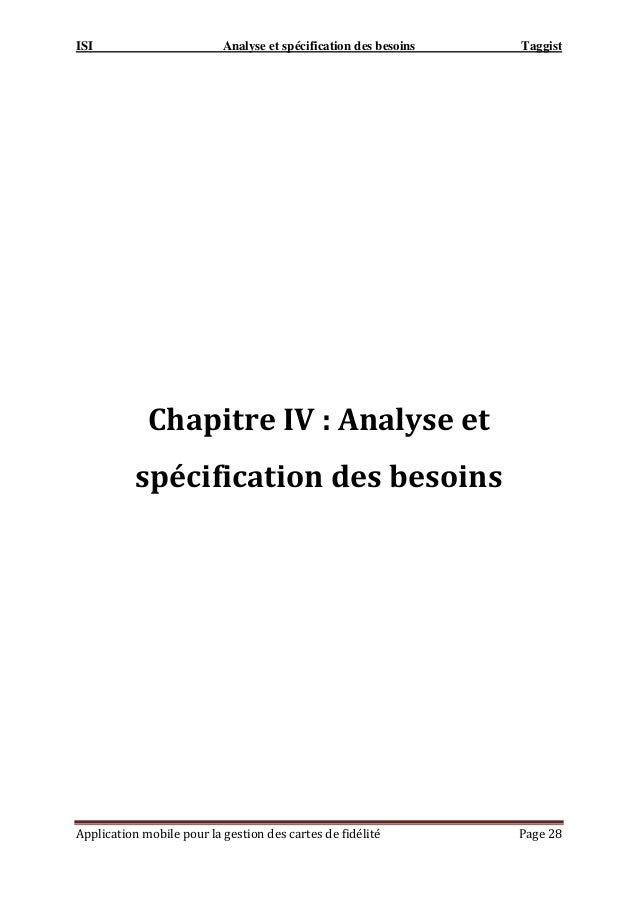 ISI Analyse et spécification des besoins Taggist Application mobile pour la gestion des cartes de fidélité Page 28 Chapitr...
