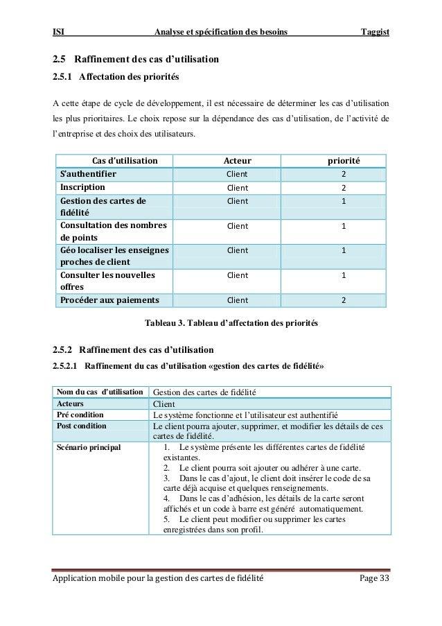 ISI Analyse et spécification des besoins Taggist Application mobile pour la gestion des cartes de fidélité Page 33 2.5 Raf...