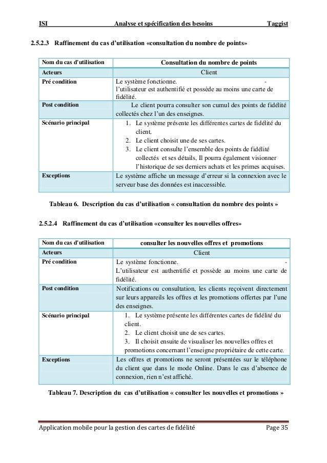 ISI Analyse et spécification des besoins Taggist Application mobile pour la gestion des cartes de fidélité Page 35 2.5.2.3...