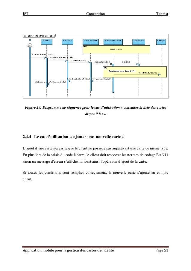 ISI Conception Taggist Application mobile pour la gestion des cartes de fidélité Page 51 Figure 23. Diagramme de séquence ...